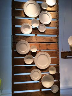 """Windows"" by Jake: ""The White Light"", pinned by Ton van der Veer Wooden Plates, Decorative Plates, Visual Merchandising, Furniture Store Display, Store Displays, Booth Displays, Window Displays, Pallet Backdrop, Vitrine Design"