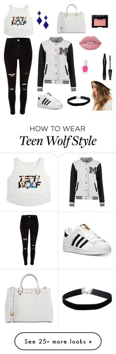 """""""Untitled #1"""" by l-bywater on Polyvore featuring River Island, Marie Hélène de Taillac, adidas, MICHAEL Michael Kors, Miss Selfridge, Lime Crime, NARS Cosmetics, tenoverten, Lancôme and LULUS"""