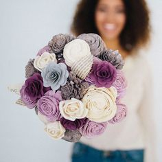 Cherish your bouquet forever with wood flower bouquets from Eco Flower