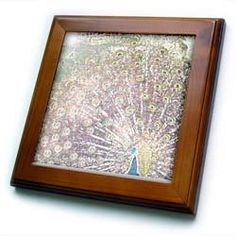 """Patricia Sanders Creations - Peacock Art - Framed Tiles :           Peacock Art Framed Tile is 8"""" x 8"""" with a 6"""" x 6"""" high gloss inset ceramic tile, surrounded by a solid wood frame with predrilled keyhole for easy wall mounting.                           **Read more Details : http://gethotprice.com/appin/?t=B005FWGIMW"""