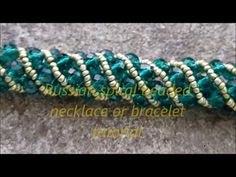 Russian spiral beaded bracelet or necklace tutorial - YouTube