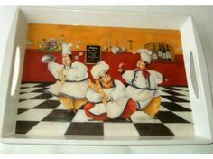 Large Fat Italian Chefs Kitchen Serving Tray $24.95