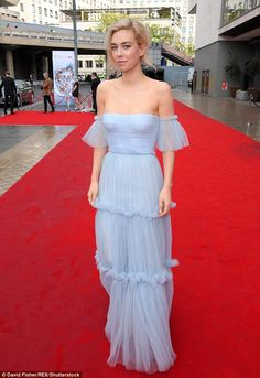 Positively regal: Vanessa Kirby looked positively regal as she attended the TV BAFTAs on S...