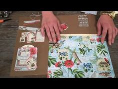 Also made a journal yearbook with the beautiful Time to Flourish papers from Graphic 45. All the pages are build up the same way and bounded with elastic cor...
