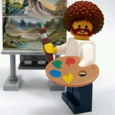 Bob Ross Lego... so awesome!