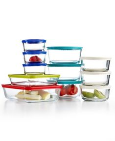 Food Storage Meal Prep Glass Containers Pyrex 22 Piece Food Storage Container Set, Only at Macy's Glass Storage Containers, Glass Food Storage, Glass Containers, Catering, Pyrex Set, Food Porn, Secret Menu, Foodblogger, Tupperware
