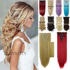 Factory Price 24inches 66CM Real Thick Clip In Hair Extensions Long Curly New Full Head Hair Extentions Black Brown Blonde Red