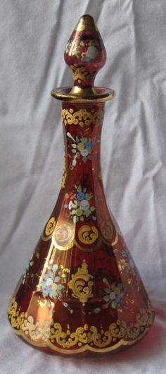 Fine 19th Century Bohemian Art Glass Perfume Bottle   eBay
