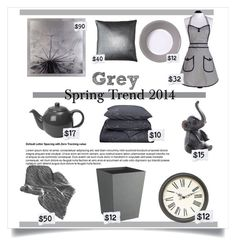 """spring trend 2014 Grey"" by divacrafts ❤ liked on Polyvore featuring interior, interiors, interior design, home, home decor, interior decorating, Calvin Klein, Pillow Decor, Variopinte and Jessie Steele"