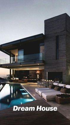 Dream House Interior, Luxury Homes Dream Houses, Dream Home Design, Modern House Design, Dream Homes, Luxury Modern Homes, Modern House Facades, Dream Mansion, Modern Mansion