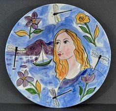 Jose Ventura - Flowers and Dragonflies- purple bowl Purple Bowls, American Village, Dragonflies, 3 D, Culture, Ceramics, Traditional, Music, Artist
