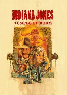 Cartel de Indiana Jones, Templo de Doom póster, impresión de póster de película, Harrison Ford cartel, cartel de película de Indiana Jones