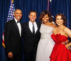 Real POTUS & FLOTUS with Tony Goldwyn & Bellamy Young! White House Correspondents' Dinner, 5/3/14. #scandal #whcd