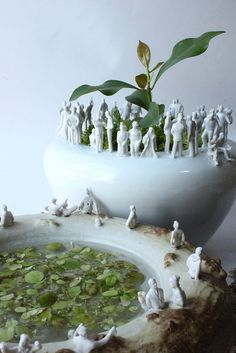 .Pots Kids could all make a small figure to put on a shared pot