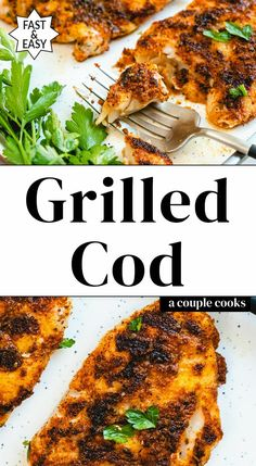 Grilled Cod Recipes, Cod Fish Recipes, Grilled Seafood, Seafood Recipes, Fish Recipes For The Grill, How To Grill Fish, Grilled Fish Marinade, Healthy Grilling, Grilling Recipes