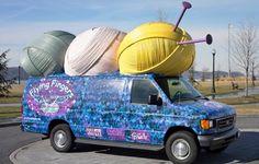 It's The Yarn Bus!  (flying fingers yarn shop)