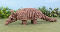 Armadillo crochet pattern from Planet June. It looks so lifelike! #crochet #armadillo #planetjune