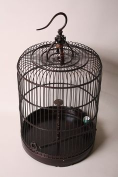 For Sale on - Antique Chinese bamboo birdcage. Functional opening slide door and ceramic feeding bowl. 3 available; Cage Light Fixture, Hanging Light Fixtures, Hanging Lights, Gate Lights, Bird Cages For Sale, Hanging Bird Cage, Bird Cage Centerpiece, Antique Bird Cages, Chinese Bamboo