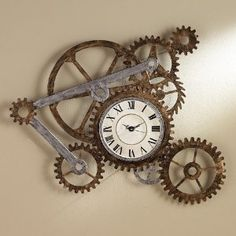I love this clock. Ya, I've got a little steampunk running through my veins.