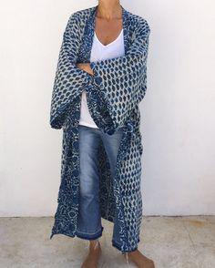 """257 Likes, 27 Comments - Malaika Cotton (@malaikacotton) on Instagram: """"Indigo supersize Kimono soon online 💙#malaikacotton #robe #kenya #homewear #interior #kimono…"""""""