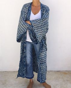 Indigo supersize Kimono soon online #malaikacotton #robe #kenya #homewear #interior #kimono #indigo #handmade