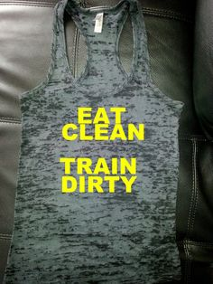 women workout tank/eat clean train dirty by FITNESSCLOTHING
