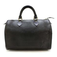 Louis Vuitton Speedy 30 Epi Handle bags Black Leather M59022
