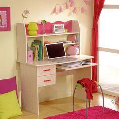 Bureau 2 tiroirs en pin Lola chez delamaison.fr