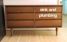 6 tutorials on how to convert a dresser into a bathroom vanity