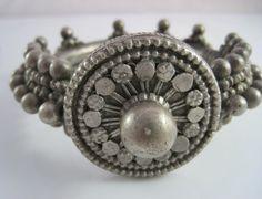 Vintage Bedouin Bracelet  Solid and Heavy Bedouin by Anteeka Sold!
