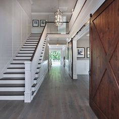 Floor, wood accents, bright white walls