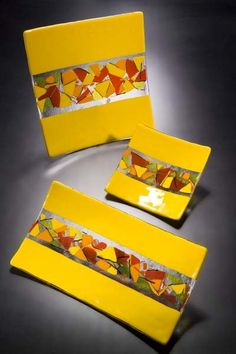 Yellow+red+orange+lemon+and+tangerine+art+glass+by+jensstudio,+$350.00