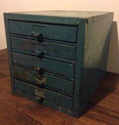 Vintage Metal Cabinet u2022 Industrial storage u2022 vintage metal drawers u2022 Vintage metal hardware cabinet & Vintage Industrial Wedge Storage Drawers | Storage drawers Vintage ...