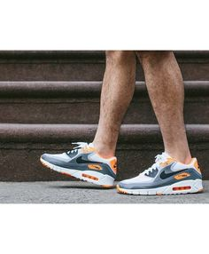 info for 632ab 606bb Nike Air Max 90 Ultra Breathe Wolf Grey Orange Shoes Sale