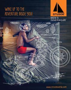 Crusoe Men's Innerwear. Wake up to the adventure inside you! #Meraki, #Crusoe Credits: http://goo.gl/Tj1kbO