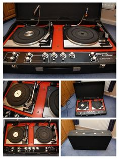 """vinylespassion: Original FAL Super Disco DJ Turntable from the 1970s. """