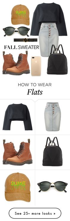 """•don't sweat it•"" by arussell28 on Polyvore featuring Dr. Martens, adidas Originals, LE3NO, STELLA McCARTNEY, Poverty Flats and Ray-Ban"