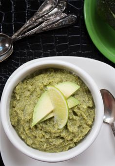 Cream of Broccoli Soup made with avocado for a dairy-free version. Paleo and Whole 30 too!