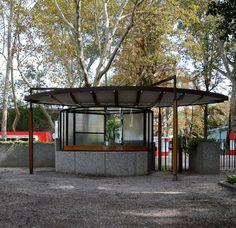 carlo scarpa, architect: biennale ticket booth, venice 1952 | by seier+seier