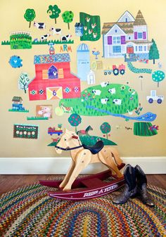 Fun On The Farm Peel and Place Wall Mural - Wall Sticker Outlet