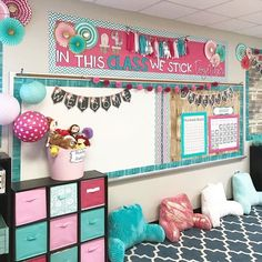elementary classroom decor How gorgeous is this classroom by I LOVE the color scheme and how she mixed it with the shiplap. So beautiful! Head Start Classroom, New Classroom, Classroom Setup, Classroom Design, Classroom Organization, Elementary Classroom Themes, Classroom Decor Themes, 3rd Grade Classroom, Kindergarten Classroom