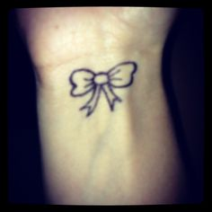 Bow tattoo