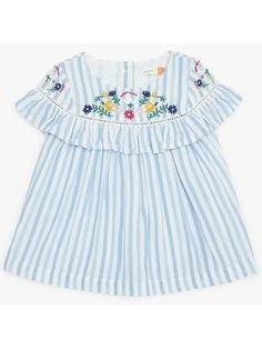 8ab7341e4bc35 Buy John Lewis   Partners Baby Stripe Floral Embroidery Blouse