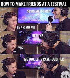 This is exactly the best way to find friends at a festival #kshmr #kshmrfam #kshmrfan #gsz #gracethekshmrfan #kshmrmeme #meme