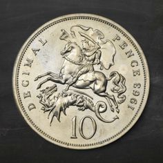 The unseen Ironsides The UK coins that never were  Decimal pattern trial coin from 1963 - 10p The ten pence coin features St George and the dragon.