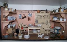 Alter Rauchfangküche - One of my oldest kitchens ca 1880-1890.  Gottschalk furniture is a little newer.  All elements date to ca 1900