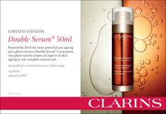 Clarins Limited Edition - Double Serum 50ml. RRP $154. Valued at $191.