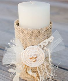 DIY Wedding Table Decoration Ideas - Burlap Candle Holders - Click Pic for 46 Easy DIY Wedding Decorations