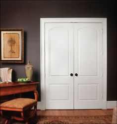 Closer. Solid Double Doors, Two Panel, Arch Even, But I Want Without