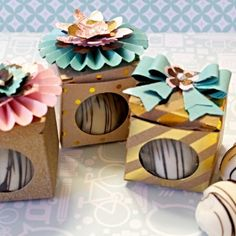 Sizzix Tutorial | Chocolate Box Party Favour by Leica Forrest
